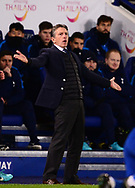 Claude Puel, the manager of Leicester city reacts on the touchline .Premier league match, Leicester City v Tottenham Hotspur at the King Power Stadium in Leicester, Leicestershire on Tuesday 28th November 2017.<br /> pic by Bradley Collyer, Andrew Orchard sports photography.