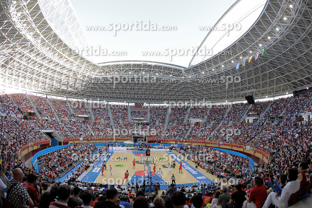 15.08.2010, Logroo, ESP, Friendly Basketball LS, Spain vs Argentia, im Bild First FIBA professional match in open court played in Spain. EXPA Pictures © 2010, PhotoCredit: EXPA/ Alterphotos/ Acero +++++ ATTENTION - OUT OF SPAIN +++++