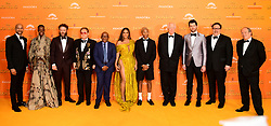 (left to right) Keegan-Michael Key, Florence Kasumba, Seth Rogen, Elton John, Lebo M, Beyonce, Pharell Williams, Sir Tim Rice, Billy Eichner, Jon Favreau and Hans Zimmer attending Disney's The Lion King European Premiere held in Leicester Square, London.
