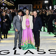 M. Night Shyamalan, Sarah Paulson and James McAvoy attends Premiere of M. Night Shyamalan's superhero thriller Glass, which follows Unbreakable and Split on 9 January 2019, London, UK.