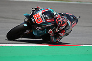 Rookie #20 Fabio Quatararo, French: Petronas Yamaha SRT on his way to pole during qualifying for the Gran Premi Monster Energy de Catalunya at Circuit de Barcelona – Catalunya, Barcelona, Spain on 15 June 2019.