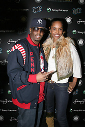 Sean P Diddy Combs and his wife Kim Porter arrive at the VIP Room night club on the Champs Elysees in Paris, France on March 21, 2007 after his concert with Snoop Dogg at Bercy Stadium. Photo by Nikola Kis Derdei/ABACAPRESS.COM  | 118581_07 PAris F France
