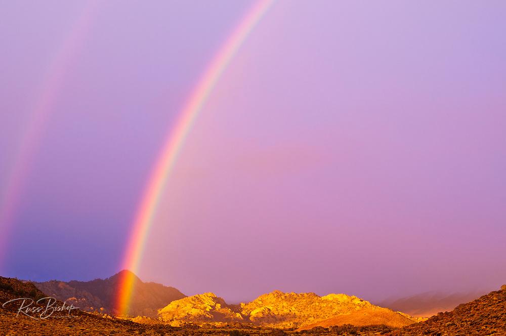Rainbow over Buttermilk Country, Sierra Nevada Mountains, Bishop, California