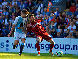 BLACKBURN, ENGLAND - Thursday, July 19, 2018: Liverpool's Alberto Moreno during a preseason friendly match between Blackburn Rovers FC and Liverpool FC at Ewood Park. (Pic by David Rawcliffe/Propaganda)