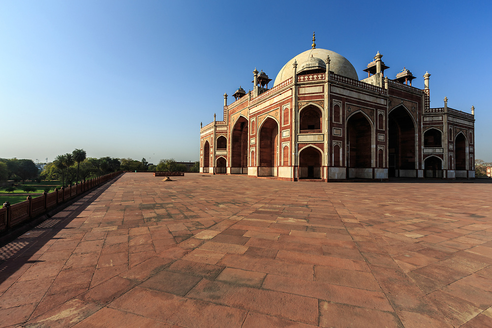 Humayun's Tomb in Delhi is the first of the grand dynastic mausoleums that were to become synonyms of Mughal architecture with the architectural style reaching its zenith 80 years later at the later Taj Mahal.
