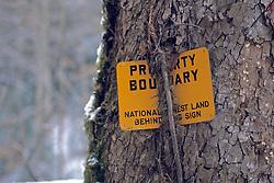 Property Boundry Sign
