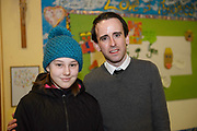 24/02/2018  Pres Student Vssa Miszmisina , and Greg  McMenamin at a public meeting to discuss the future plans for a School of Music for Galway city, organised by Maoin Cheoil na Gaillimhe at Presentation NS. Photo:Andrew Downes, XPOSURE .