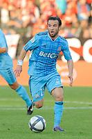 FOOTBALL - FRENCH CHAMPIONSHIP 2010/2011 - L1 - VALENCIENNES FC v OLYMPIQUE DE MARSEILLE - 14/08/2010 - PHOTO JEAN MARIE HERVIO / DPPI - MATHIEU VALBUENA (OM)