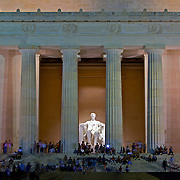 Tourists flock to the Lincoln Memorial honoring the 16th President of the United States. Located on the National Mall in Washington, DC, the monument contains a large seated sculpture of Abraham Lincoln and inscriptions of two well-known speeches by Lincoln, The Gettysburg Address and his Second Inaugural Address. It has been listed on the National Register of Historic Places since October 15, 1966.