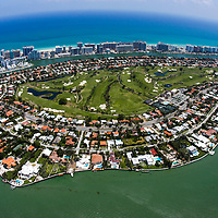 in 1924, when Miami was booming, the original La Gorce Country Club was built by dredging more than two million cubic yards from Biscayne Bay. Carl Fisher was the pre-eminent realtor of the day and the course was used mainly for guests at nearby hotels. La Gorce was completed in 1927.