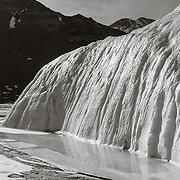Melt water at base of Canada Glacier