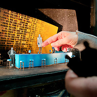 The scale model of the set produced by set designer Hildegard Bechtler . The making of Gotterdammerung - the final part of the wagner Ring Cycle. A behind the scenes view of the making of the Scottish Opera production directed by Tim Avery . First performance the 5th of April at the Festival Theatre, Edinburgh. Picture Drew Farrell. Tel 07721-735041