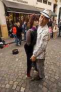 Street performer in San Telmo, Buenos Aires, Argentina