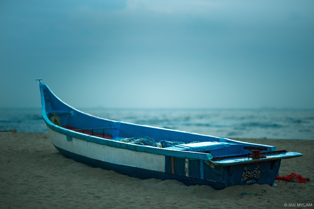 Fishing Boat at Dawn - Chennai, India
