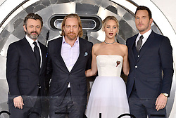 Michael Sheen, Morten Tyldum, Jennifer Lawrence and Chris Pratt attend the World Premiere of Columbia Pictures' 'Passengers' at Regency Village Theatre on December 14, 2016 in Los Angeles, CA, USA. Photo by Lionel Hahn/ABACAPRESS.COM