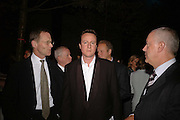 NICHOLAS SEROTA, DAVID CAMERON AND HUW JENKINS, , Launch of TatE Modern's rehang of its permanent Collection in partnership with UBS. Tate Modertn. 23 May 2006. ONE TIME USE ONLY - DO NOT ARCHIVE  © Copyright Photograph by Dafydd Jones 66 Stockwell Park Rd. London SW9 0DA Tel 020 7733 0108 www.dafjones.com