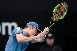 January 10, 2019 - Sydney, NSW, U.S. - SYDNEY, AUSTRALIA - JANUARY 10: Alex De Minaur (AUS) hits a backhand at The Sydney International Tennis in the match between Alex De Minaur (AUS) and Jordan Thompson (AUS) on January 10, 2018, at Sydney Olympic Park Tennis Centre in Homebush, Australia. (Photo by Speed Media/Icon Sportswire) (Credit Image: © Steven Markham/Icon SMI via ZUMA Press)