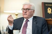 02 JUL 2018, BERLIN/GERMANY:<br /> Frank-Walter Steinmeier, Bundespraesident, waehrend einem Interview, Amtszimmer des Bundespraesidenten, Schloss Bellevue<br /> IMAGE: 20180702-01-045<br /> KEYWORDS: Bundespräsident