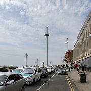 UK weather: British Airways i360 tower in Brighton, UK on July 27 2018.