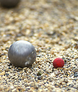 Osterley, Greater london.  Boule and Jack,  Le Piat d'Or,  Petanque/Boules Championships held in the grounds of Osterley House West London, England, [Mandatory Credit; Peter Spurrier/Intersport Images] 19870912 Petanque Championships, Osterley, Greater London, UK
