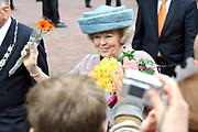 Koninginnedag 2010 . De Koninklijke familie in het zeeuwse  Middelburg. / Queensday 2010. De Royal Family in Middelburg.<br /> <br /> op de foto / on the photo Koningin Beatrix / Queen Beatrix