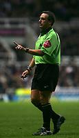Photo: Andrew Unwin.<br />Newcastle Utd v Aston Villa. The Barclays Premiership.<br />03/12/2005.<br />The referee, Alan Wiley.