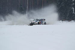 06.02.2014, Torsby, Hagfors, SWE, FIA, WRC, Schweden Rallye, Tag 2, im Bild Jari-Matti Latvala/Miikka Anttila (Volkswagen Motorsport/Polo R WRC), Action / Aktion // during the FIA WRC Sweden Rally at the Torsby in Hagfors, Sweden on 2014/02/07. EXPA Pictures © 2014, PhotoCredit: EXPA/ Eibner-Pressefoto/ Bermel<br /> <br /> *****ATTENTION - OUT of GER*****