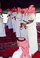 Dance at the wedding celebration of Mohammed Alerq. Dahna Sands, Saudi Arabia