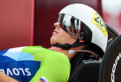 ASAKA, JAPAN - AUGUST 31: Anej Doplihar of Team Slovenia at start of the Men's H3 Time Trial Cycling Competition on Day 7 of the Tokyo 2020 Paralympic Games at Fuji International Speedway, Japan.  Photo by Vid Ponikvar / Sportida