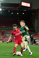 Football - 2020 / 2021 Premier League - Liverpool vs Sheffield United - Anfield<br /> <br /> Liverpool's Diogo Jota battles with  Sheffield United's Ben Osborn<br /> <br /> COLORSPORT/TERRY DONNELLY