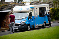 self distancing Fish and Chip van in stratton audley oxfordshire