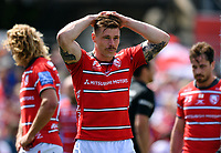 Rugby Union - 2018 / 2019 Gallagher Premiership - Play-Off Semi-Final: Saracens vs. Gloucester<br /> <br /> Gloucester's Jason Woodward dejected as Saracens' Nick Tompkins scores his sides fifth try, at Allianz Park.<br /> <br /> COLORSPORT/ASHLEY WESTERN
