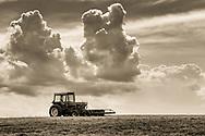Clouds over farm fields in Goshen,  N.Y., on June 18, 2020.