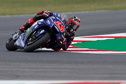 September 7, 2018 - Rimini, RN, Italy - Maverick Vinales of Movistar Yamaha MotoGP during the free practice 2 of the OCTO Grand Prix of San Marino e della Riviera di Rimini, at Misano World Circuit Marco Simoncelli, on September 07, 2018 in Misano Adriatico, Italy  (Credit Image: © Danilo Di Giovanni/NurPhoto/ZUMA Press)