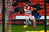 Alfie May of Doncaster Rovers (19) cuts back during the EFL Sky Bet League 1 match between Doncaster Rovers and Scunthorpe United at the Keepmoat Stadium, Doncaster, England on 15 December 2018.