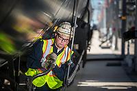 SGS Petroleum employees unload heavy Canadian oil at a new NuStar train terminal in St. James Parish, Louisiana.
