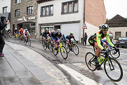 Romy Kasper (GER) of Ale-Cipollini Cycling Team reaches Houffalize during the Liege-Bastogne-Liege Femmes - a 138.5 km road race, between Bastogne and Liege on April 28, 2019, in Wallonie, Belgium. (Photo by Balint Hamvas/Velofocus.com)