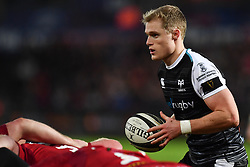 Aled Davies of Ospreys in action during todays match<br /> <br /> Photographer Craig Thomas/Replay Images<br /> <br /> Guinness PRO14 Round 11 - Ospreys v Scarlets - Saturday 22nd December 2018 - Liberty Stadium - Swansea<br /> <br /> World Copyright © Replay Images . All rights reserved. info@replayimages.co.uk - http://replayimages.co.uk