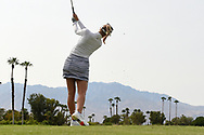 Jessica Korda (USA) watches her tee shot on 5 during round 2 of the 2020 ANA Inspiration, Mission Hills C.C., Rancho Mirage, California, USA. 9/11/2020.<br /> Picture: Golffile | Ken Murray<br /> <br /> All photo usage must carry mandatory copyright credit (© Golffile | Ken Murray)