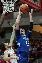 01 February 2014:  Seth VanDeest moves in for a lay up during an NCAA Missouri Valley Conference (MVC) mens basketball game between the Drake Bulldogs and the Illinois State Redbirds  in Redbird Arena, Normal IL.