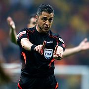 Referee Bulent Yildirim during their Turkish superleague soccer derby match Galatasaray between Fenerbahce at the AliSamiYen spor kompleksi TT Arena in Istanbul Turkey on Sunday, 06 April 2014. Photo by Aykut AKICI/TURKPIX