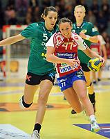 Europa Cup håndball damer Byåsen - Viborg 21-26,<br /> Herrem og Gorica Camilla Acimovic,<br /> Foto: Carl-Erik Eriksson, Digitalsport,