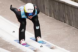 February 7, 2019 - Ljubno, Savinjska, Slovenia - Oceane Avocat Gros of France competes on qualification day of the FIS Ski Jumping World Cup Ladies Ljubno on February 7, 2019 in Ljubno, Slovenia. (Credit Image: © Rok Rakun/Pacific Press via ZUMA Wire)
