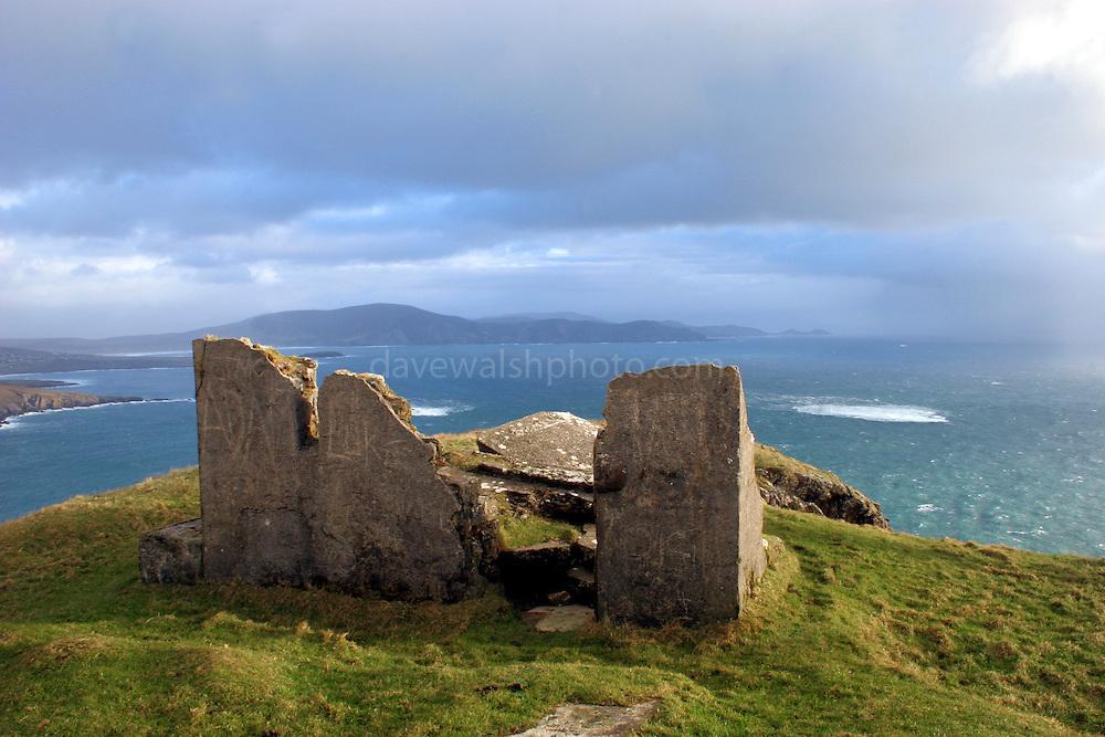 Ruined watchtower Keem Bay, Achill Island