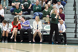 21 February 2015:  Titan coaches  Olivai Lett, ?, Jenn Watson, Mia Smith, Chad Cusac during an NCAA women's division 3 CCIW basketball game between the Elmhurst Bluejays and the Illinois Wesleyan Titans in Shirk Center, Bloomington IL