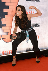Actress Rosario Dawson attends the 'Marvel's The Defenders' New York Premiere at Tribeca Performing Arts Center in New York, NY, on on July 31, 2017. (Photo by Anthony Behar) *** Please Use Credit from Credit Field ***