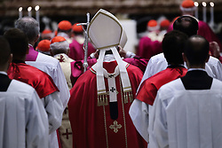 November 3,  2018  - Vatican City (Holy See) - POPE FRANCIS celebrates holy mass for the repose of the soul of the cardinals and bishops  who died over the course of the year in St. Peter's Basilica at the Vatican  (Credit Image: © Evandro Inetti/ZUMA Wire)