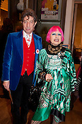 DUGGIE FIELDS;  ZANDRA RHODES, Opening of David Hockney ' A Bigger Picture' Royal Academy. Piccadilly. London. 17 January 2012
