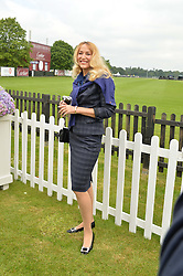 JERRY HALL at the Cartier Queen's Cup Polo final at Guard's Polo Club, Smiths Lawn, Windsor Great Park, Egham, Surrey on 14th June 2015