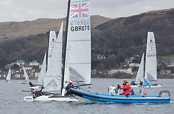The annual RYA Youth National Championships is the UK's premier youth racing event. This year's regatta is taking place in Largs, Scotland, and will feature around 200 young sailors aged between 14 and 21. <br /> <br /> Nacra 15 coaching prior to the event starting tommorrow. <br /> <br /> Images: Marc Turner / RYA<br /> <br /> For further information contact:<br /> <br /> Richard Aspland, <br /> RYA Racing Communications Officer (on site)<br /> E: richard.aspland@rya.org.uk<br /> m: 07469 854599
